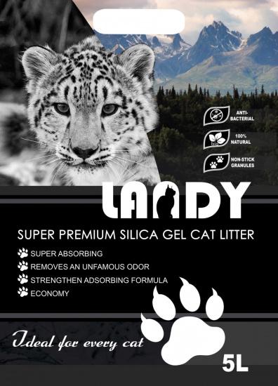 Силікагелевий наповнювач для котячого туалету LANDY 5л