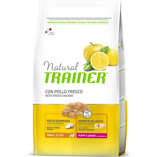 Trainer Natural Dog Small & Toy Junior White Fresh Chicken and Rice