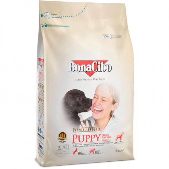 BonaCibo Puppy High Energy Chicken&Rice with Anchovy