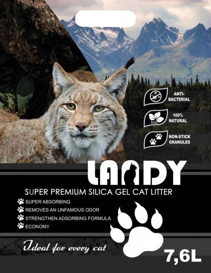Силикагелевий наполнитель для кошачьего туалета LANDY 7,6л