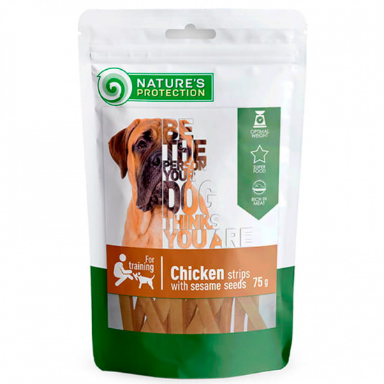 Nature's Protection snack for dogs chicken strips with sesame