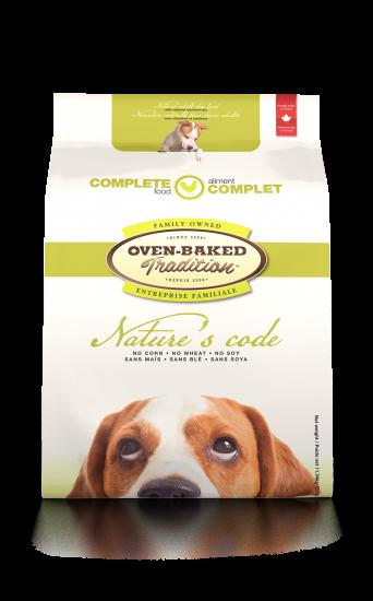 Oven-Baked Tradition Nature's Code. Повнораціонний збалансований сухий корм для собак з м'яса курятини.