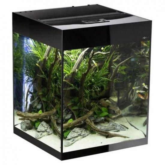 Акваріумний набір Aquael «Glossy Cube» чорний, прямий (135 л)