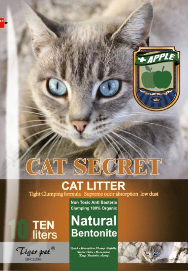 Бентонітовий наповнювач CAT SECRET Apple Scent