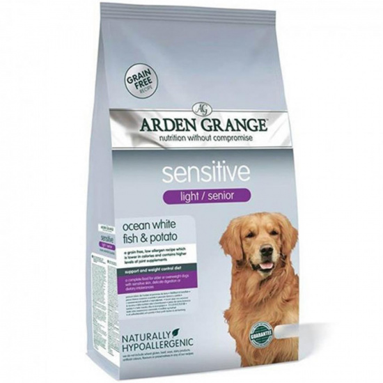 Arden Grange Dog Sensitive Light/Senior Ocean White Fish & Potato