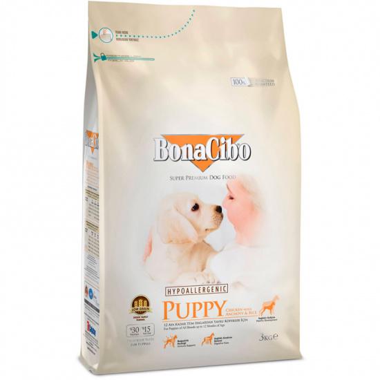 BonaCibo Puppy Chicken&Rice with Anchovy