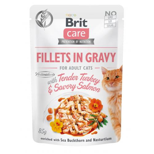Brit Care Cat pouch 85g adult turkey & salmon