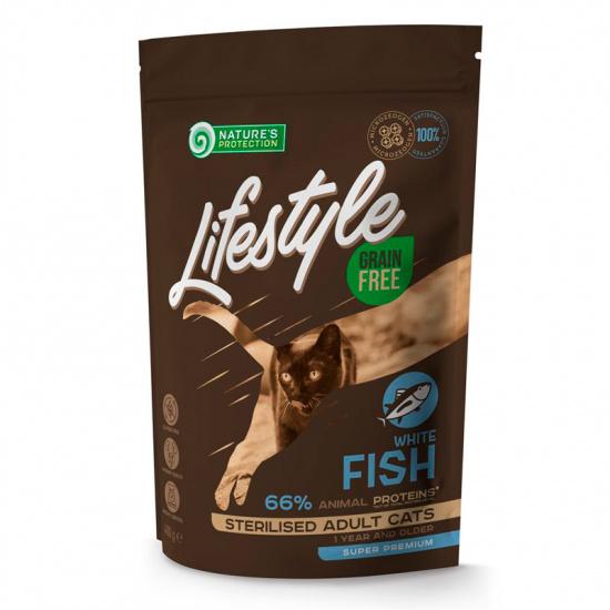 Natures Protection Lifestyle Grain Free White Fish Sterilised Adult Cat