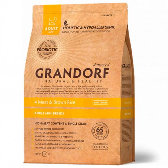 Grandorf Sensitive Care Holistic 4 Meat & Brown Rice Adult Mini Breeds