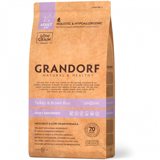 Grandorf Turkey and Brown Rice Adult Mini Breeds