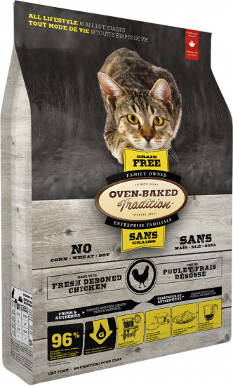 Oven-Baked Tradition Adult grain free fresh chicken cat food