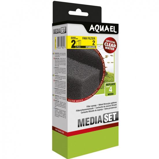 Губка Aquael «Media Set Standard» 2 шт. (Для внутрішнього фільтра Aquael FAN-2 Plus)