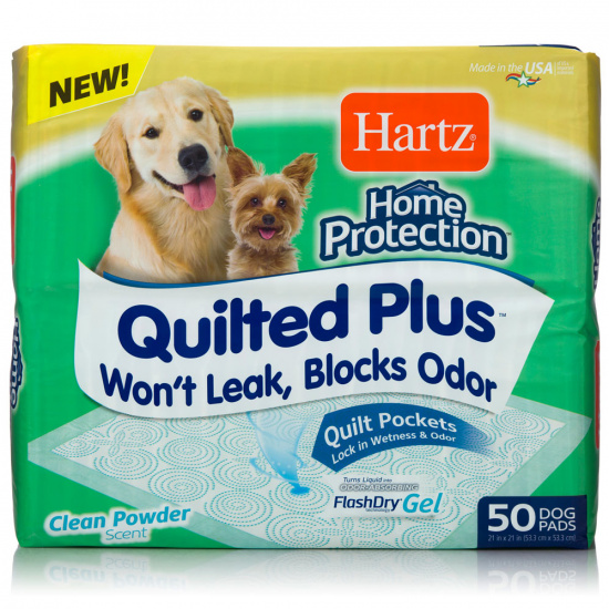 Hartz Home Protection Quilted Plus Flash Dry Gel Пеленки с ароматом пудры