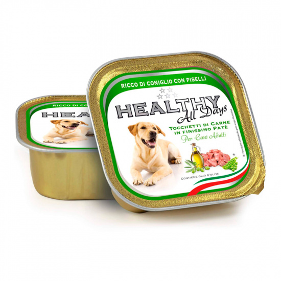 Healthy Alldays Dog Pate' Rabbit and Peas