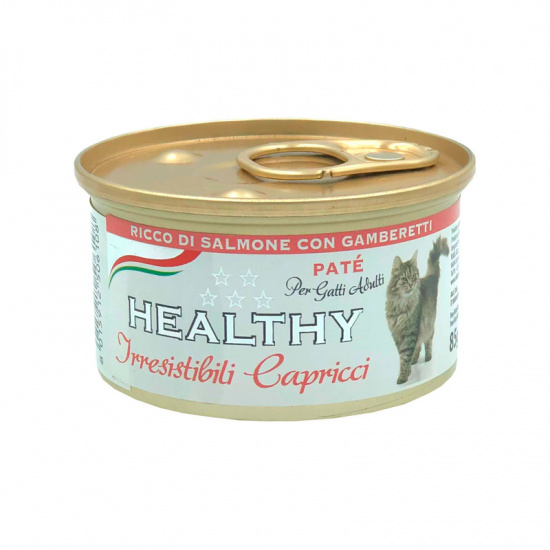 Healthy Irr. Cap Cat Pate' Rich in Salmon with Shrimps