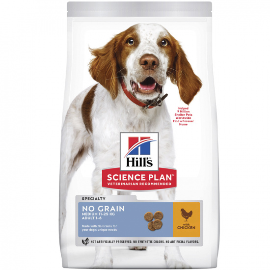 Hill's SP Canine Adult Medium Breed No Grain