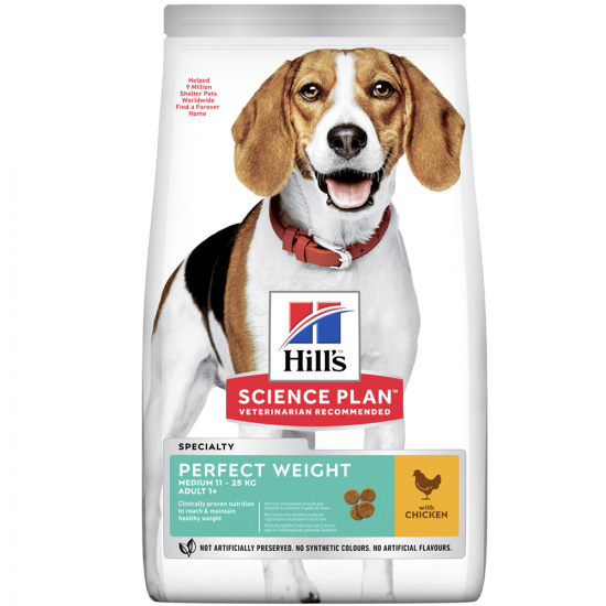 Hills SP Canine Adult Medium Breed Perfect Weight