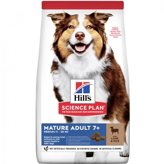 Hills SP Canine Mature Adult 7+ Medium Breed Lamb & Rice