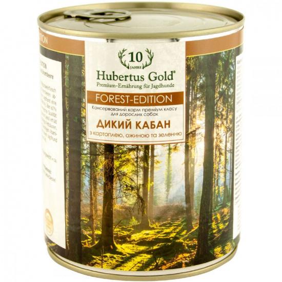 Hubertus Gold Forest Edition з м'ясом дикого кабана, картоплею, ожиною та зеленню