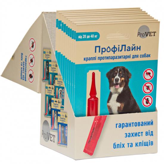 Природа ProVET ПрофиЛайн от 20 до 40 кг (Капли на холку для собак)