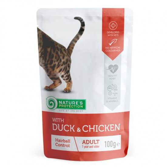 Nature's Protection Hairball with Duck and Chicken