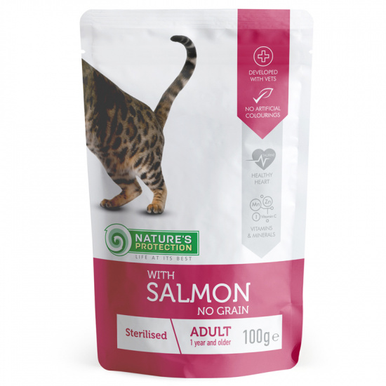 Nature's Protection Sterilised with Salmon