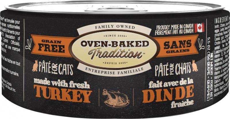 Oven-Baked Tradition беззерновой паштет для кішок зі свіжим м'ясом індички