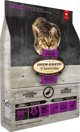 Oven-Baked Tradition Adult grain free fresh duck cat