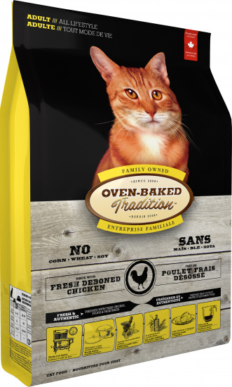 Oven-Baked Tradition Adult fresh chicken cat food