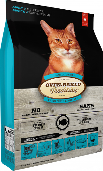 Oven-Baked Tradition Adult fresh fish cat food