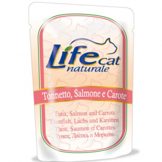 Life Cat Natural Tuna, Salmon and Carrots Pouch