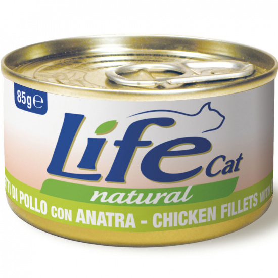 Life Cat Natural Курка з качкою