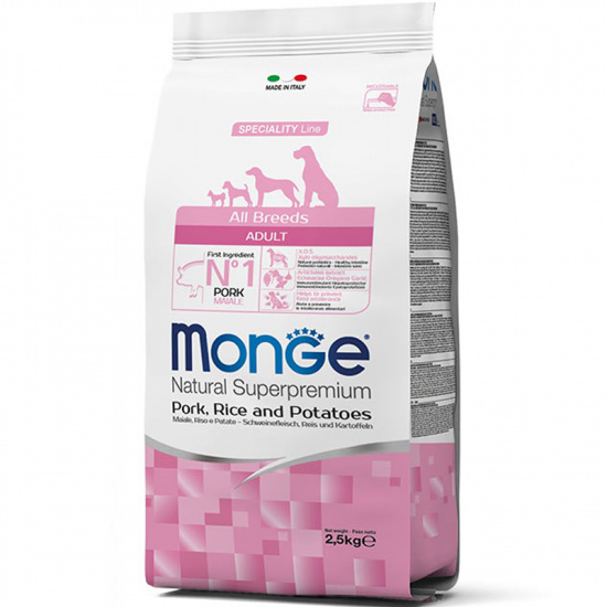Monge All Breeds Adult Pork, Rice and Potatoes