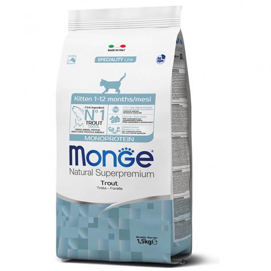 Monge Cat Monoprotein Kitten Trout