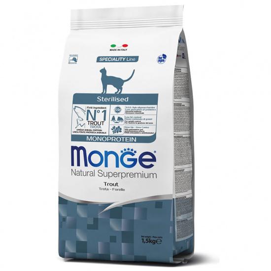 Monge Cat Monoprotein Sterilised Trout