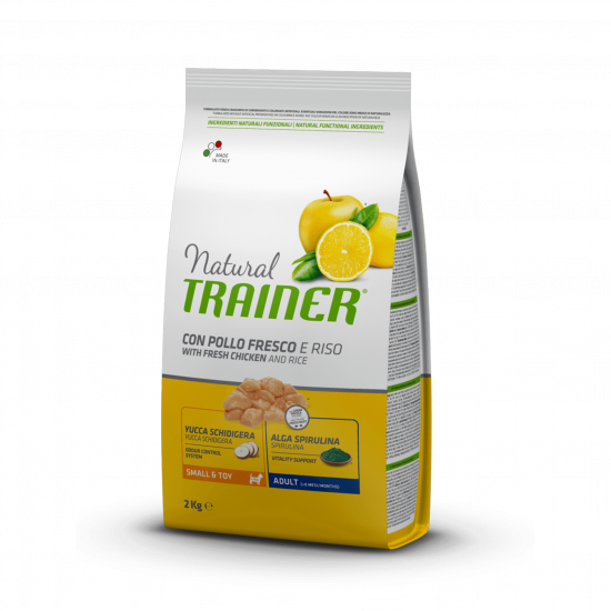 Trainer Natural Dog Small & Toy Adult White Fresh Chicken and Rice