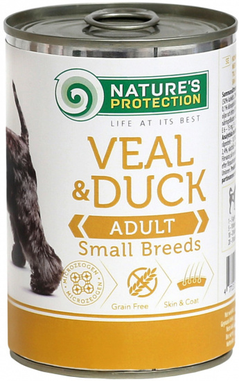 Nature's Protection Dog Adult Small Breed Veal & Duck