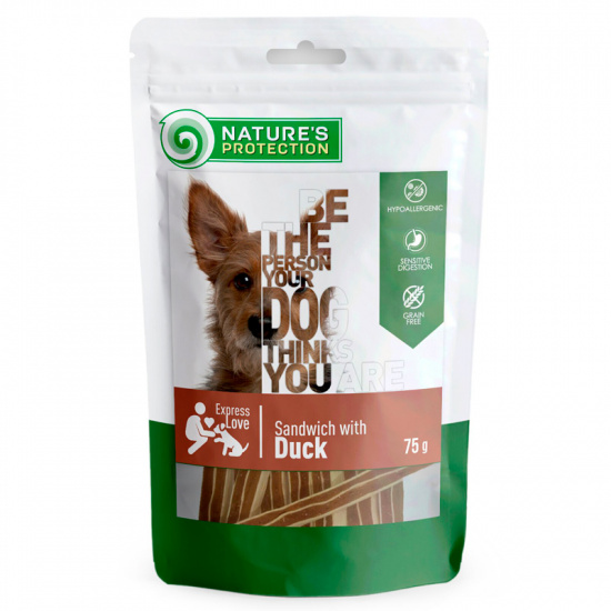 Nature's Protection snack for dogs duck sandwiches