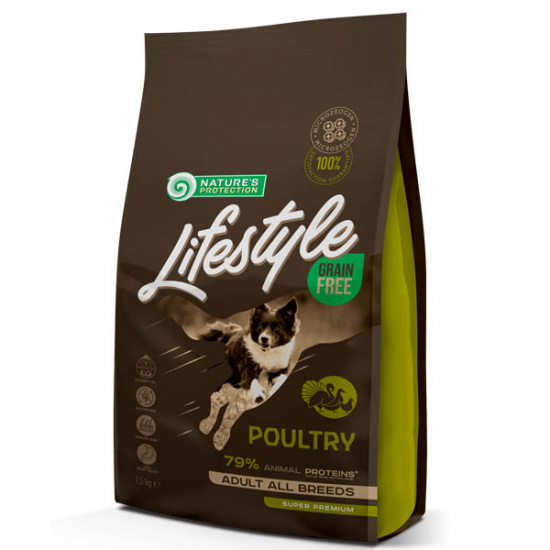 Natures Protection Lifestyle Grain Free Poultry Adult All Breeds