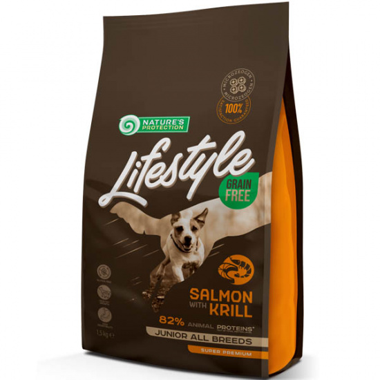 Natures Protection Lifestyle Grain Free Salmon with Krill Junior All Breeds