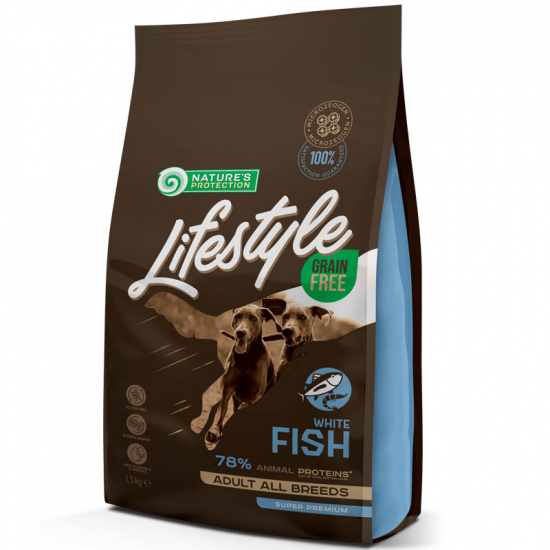 Natures Protection Lifestyle Grain Free White Fish Adult All Breeds
