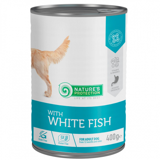 Nature's Protection with White Fish Dog