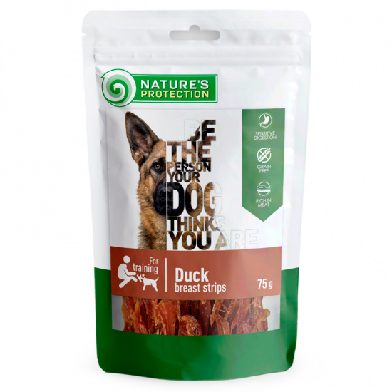 Nature's Protection Snacks For Dogs, Duck Breast Strips