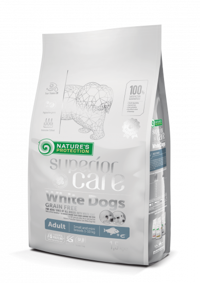 Natures Protection Superior Care White Dogs Grain Free Adult Small and Mini Breeds