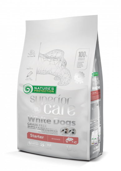 Natures Protection Superior Care  White Dogs Grain Free Starter All Breeds