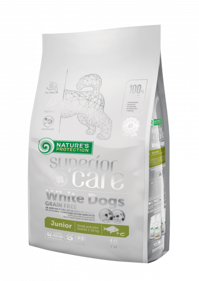 Natures Protection Superior Care White Dogs Grain Free Junior Small Breeds