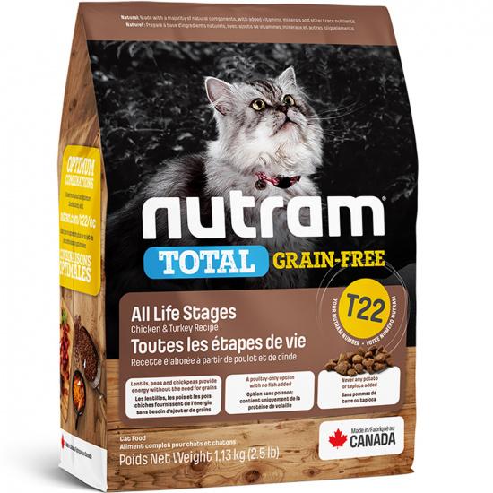 Nutram T22 Total Grain-Free Turkey, Chicken & Duck Cat