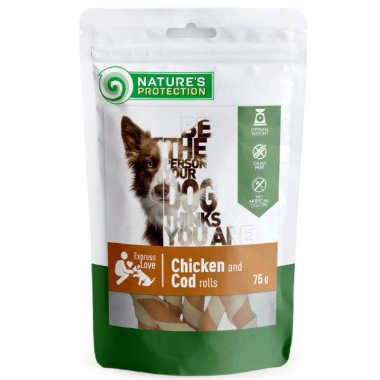 Nature's Protection snack for dogs chicken and cod rolls