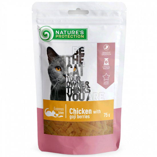 Nature's Protection snack for cats with chicken and goji berries