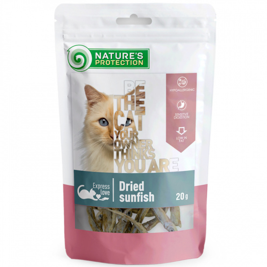 Nature's Protection snacks for cats dried sunfish